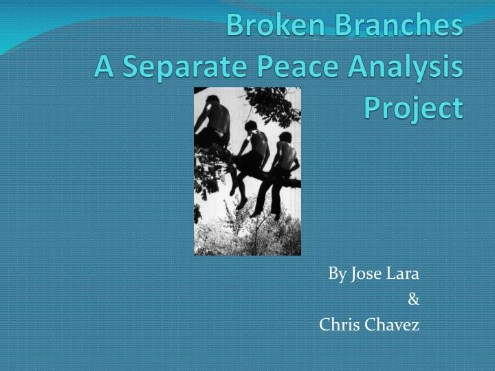 broken branches a separate peace analysis project n.