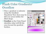 flash color gradients overflow