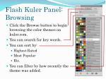flash kuler panel browsing