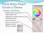 flash kuler panel create a theme1
