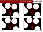 fixed vs relaxed