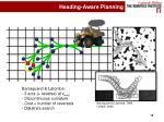 heading aware planning