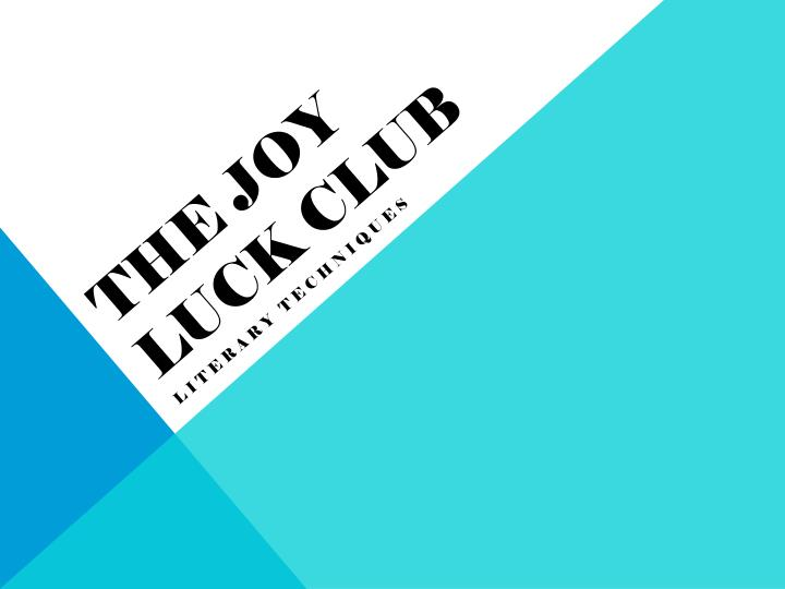 the joy luck club n.