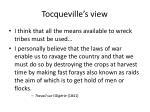 tocqueville s view