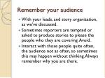 remember your audience