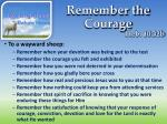 remember the courage1