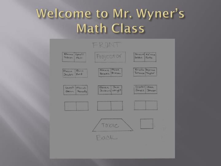 Welcome to mr wyner s math class
