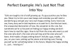 perfect example he s just not that into you