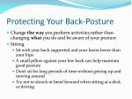 protecting your back posture