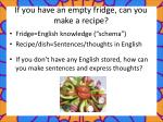 if you have an empty fridge can you make a recipe