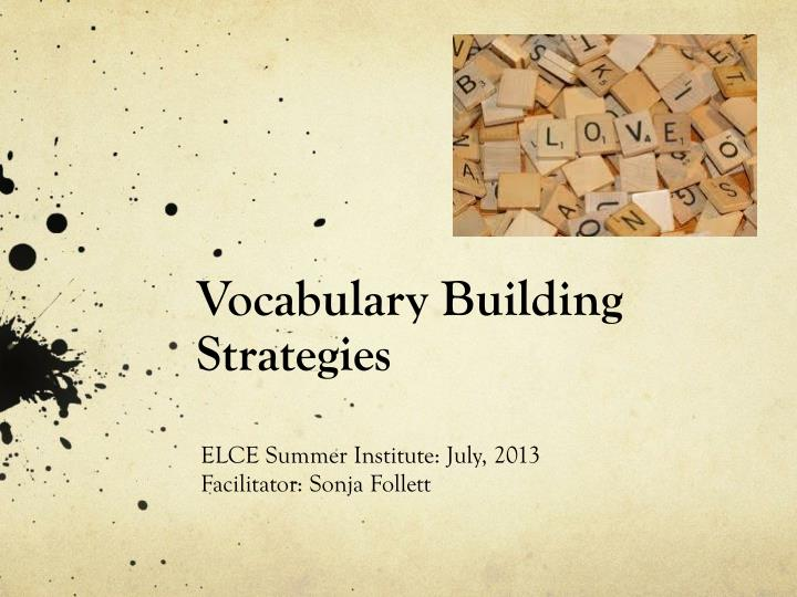 vocabulary building strategies n.