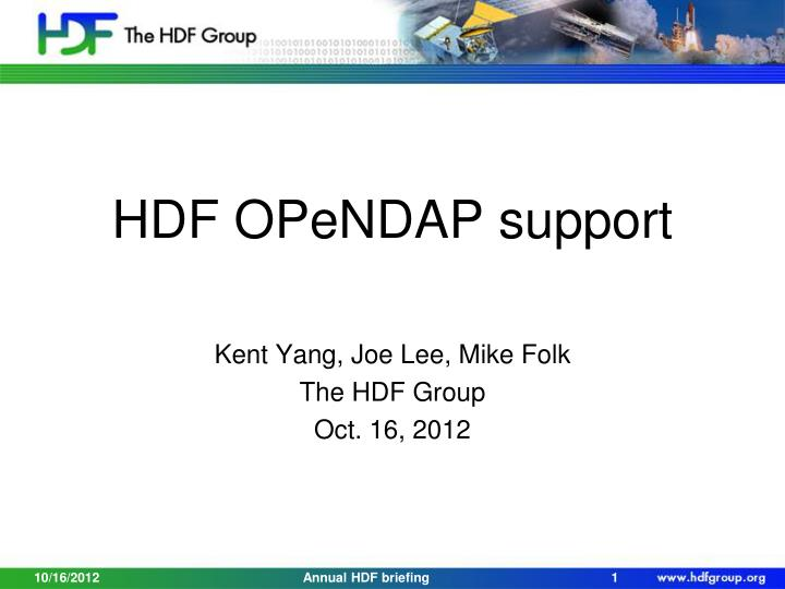 hdf opendap support n.
