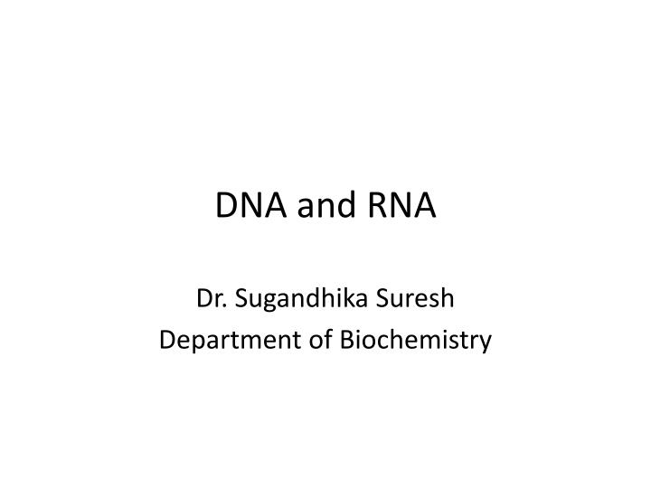dna and rna n.