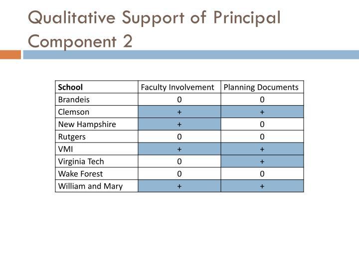 Qualitative Support of Principal Component 2