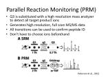 parallel reaction monitoring prm
