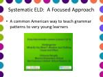 systematic eld a focused approach