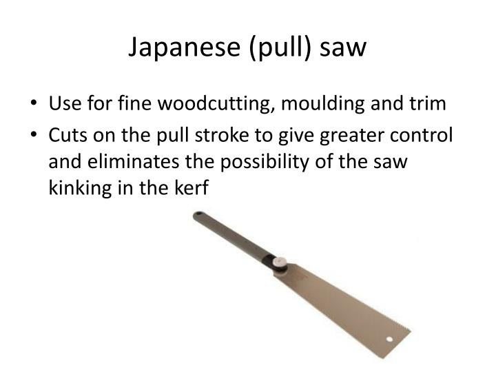 Japanese (pull) saw