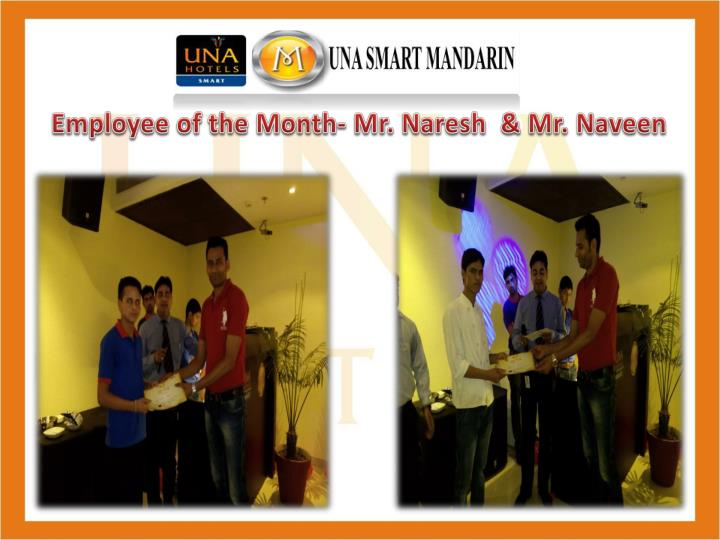 Employee of the Month- Mr.