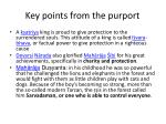 key points from the purport7