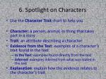 6 spotlight on characters