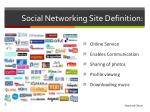 social networking site definition
