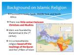 background on islamic religion