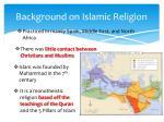 background on islamic religion