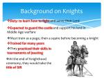 background on knights