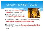 chivalry the knight s code