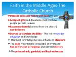 faith in the middle ages the catholic church
