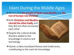 islam during the middle ages