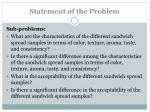 statement of the problem1