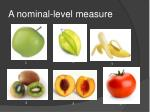 a nominal level measure