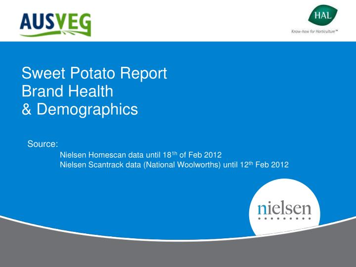 sweet potato report brand health demographics n.