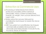 extraction commercial uses