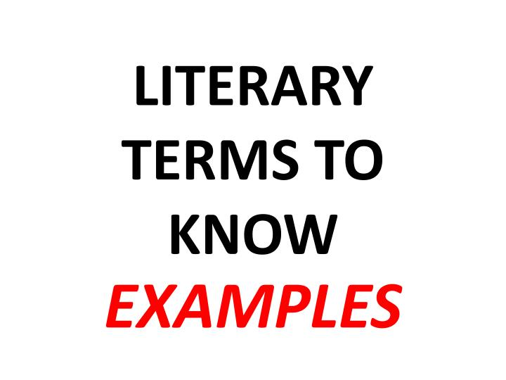 literary terms to know n.