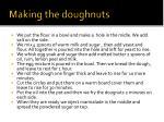 making the doughnuts