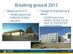 breaking ground 2013
