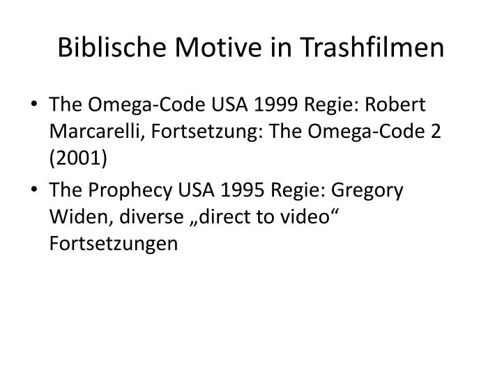 Biblische Motive in