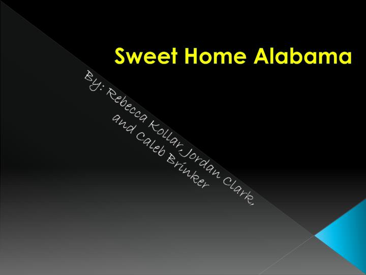 sweet home alabama n.