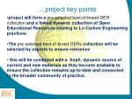 project key points