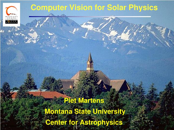 computer vision for solar physics n.