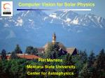 computer vision for solar physics