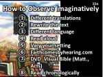 how to observe imaginatively