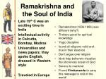 ramakrishna and the soul of india