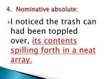 4 nominative absolute