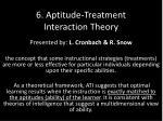 6 aptitude treatment interaction theory