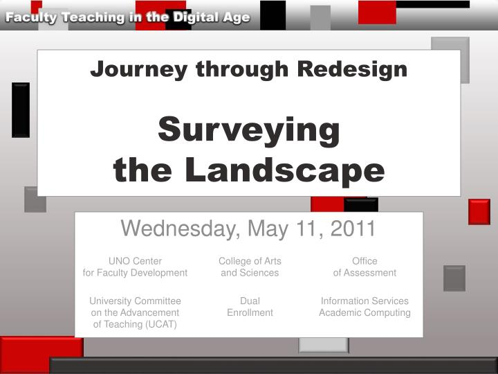 journey through redesign surveying the landscape n.