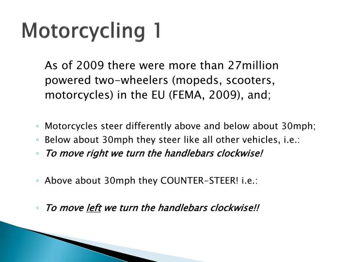 Motorcycling 1