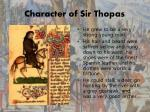 character of sir thopas